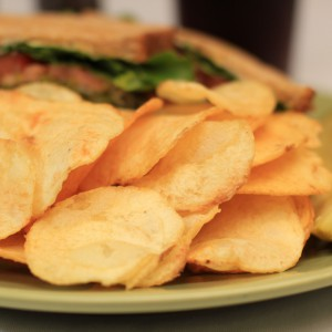 Russet Potatoes Chip Fries plated